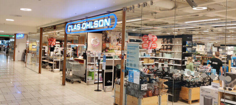 Clas Ohlson butikk i Jessheim Storsenter sep. 2021