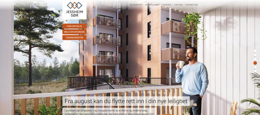 Jessheim Sør webside Sep. 2021
