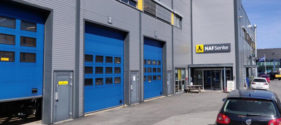 NAF Senter Jessheim bygning Juni 2021