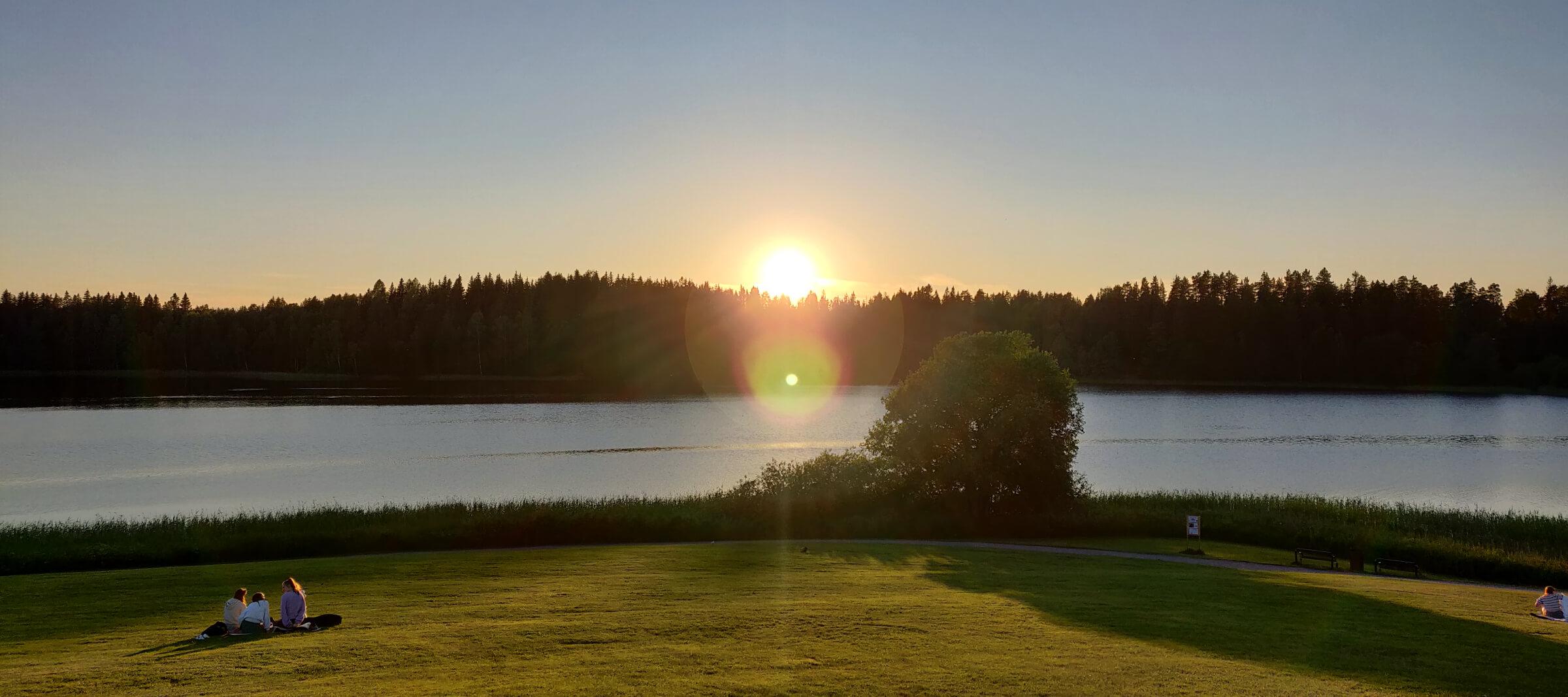 Nordbytjernet solnedgang Juli 2021