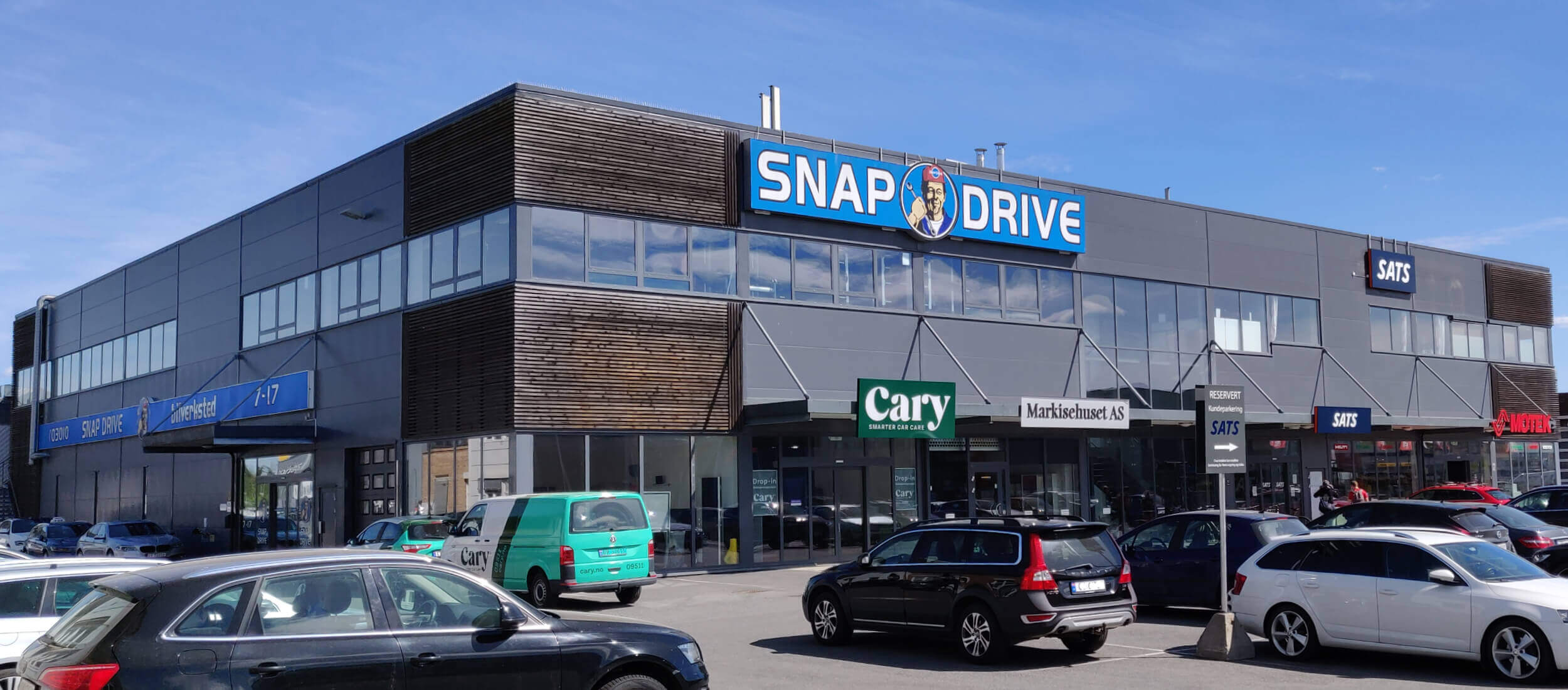 Snapdrive bilverksted bygning