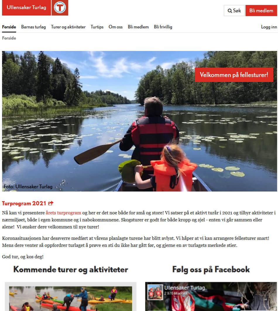Ullensaker Turlag webside