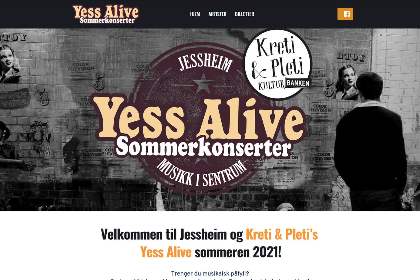 Yess Alive Sommerkonserter